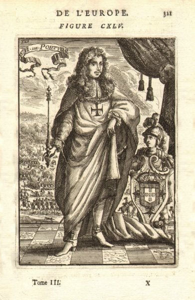 Associate Product KING ALPHONSE/AFONSO VI OF PORTUGAL. Regalia sceptre coat of arms. MALLET 1683
