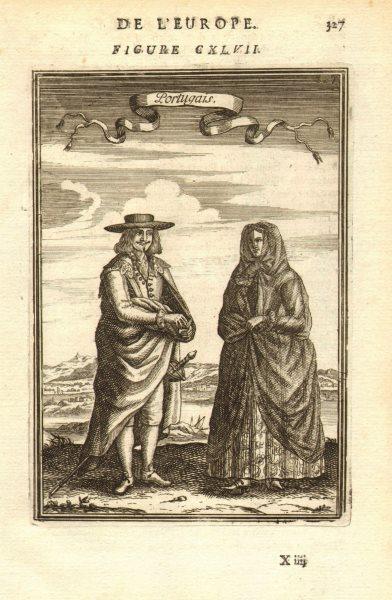 Associate Product PORTUGAL COSTUMES. Portuguese man & woman in 17C dress. Portugais. MALLET 1683