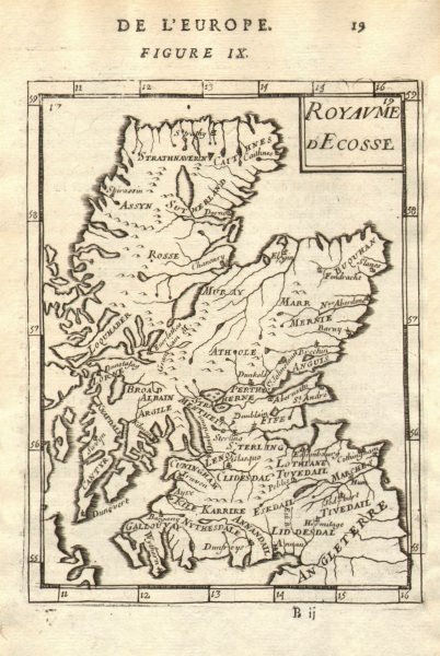 Associate Product KINGDOM OF SCOTLAND pre 1707 Act of Union. 'Royaume d'Ecosse'. MALLET 1683 map