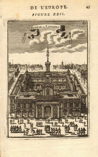 Associate Product LONDON STOCK EXCHANGE. Jarman's Royal Exchange 'Bourse de Londres'. MALLET 1683