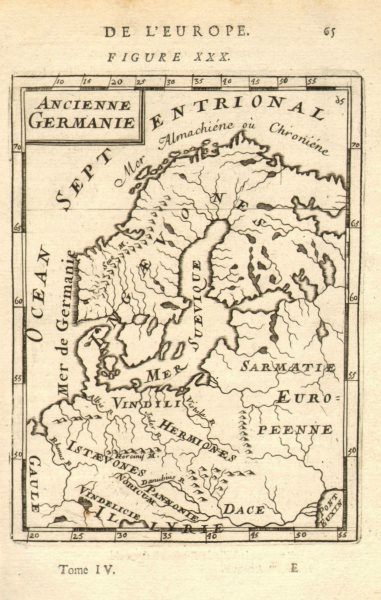Associate Product NORTHERN/CENTRAL EUROPE Scandinavia Tribes 'Ancienne Germanie'. MALLET 1683 map