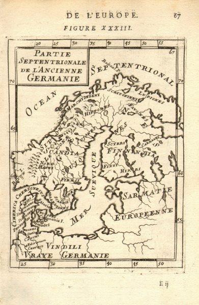 Associate Product SCANDINAVIA. Tribes. Partie Septentrionale de ancienne Germanie. MALLET 1683 map