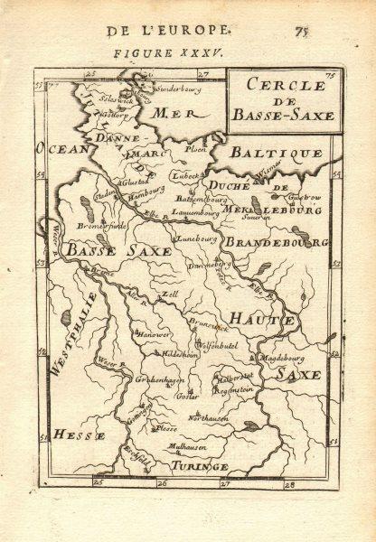 Associate Product LOWER SAXONY Niedersachsen Cercle de Basse-Saxe Hamburg Hanover. MALLET 1683 map