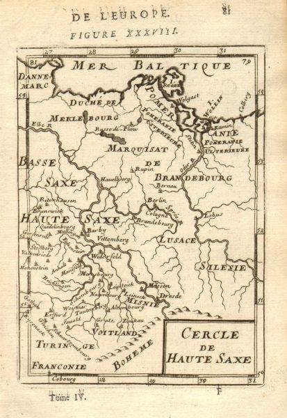 Associate Product GERMANY Saxony-Anhalt Brandenburg 'Haute Saxe' Berlin Dresden. MALLET 1683 map