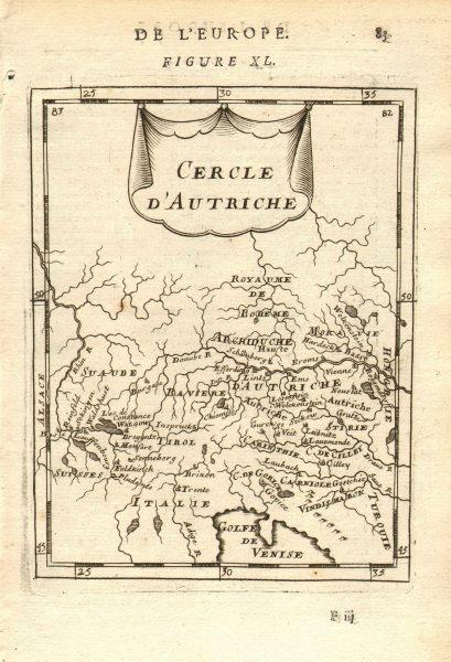 Associate Product AUSTRIA Österreich 'Cercle d'Autriche' Vienna Graz Linz. MALLET 1683 old map