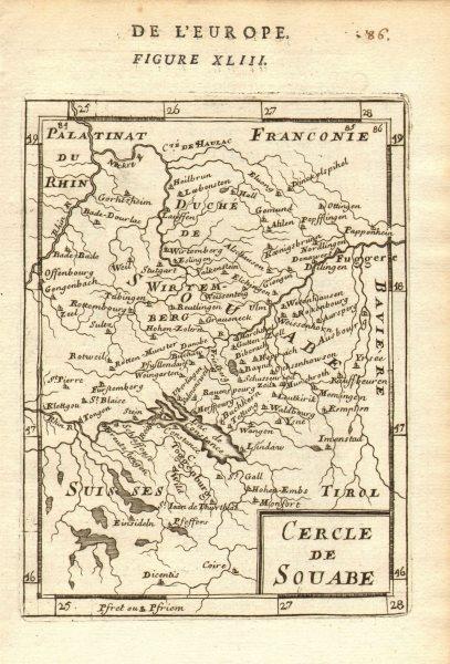 Associate Product SWABIA SCHWABEN Konstanz Stuttgart Augsburg. 'Cercle de Souabe'. MALLET 1683 map