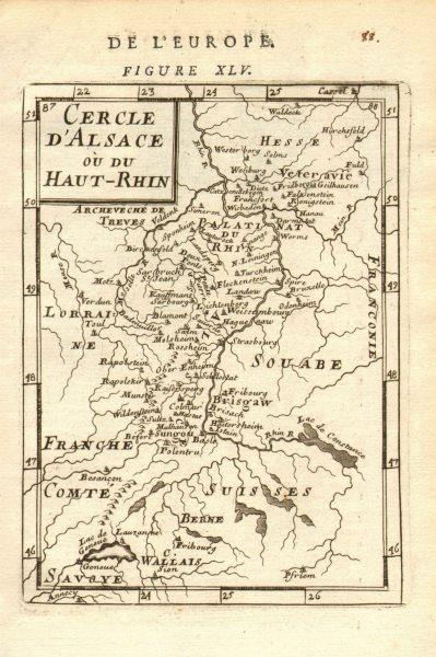 Associate Product ALSACE/RHINE VALLEY Strasbourg Basel Frankfurt 'Cercle d'Alsace' MALLET 1683 map