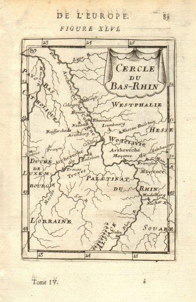 Associate Product GERMANY. Lower Rhine. Nordrhein-Westfalen. 'Cercle du Bas-Rhin'. MALLET 1683 map
