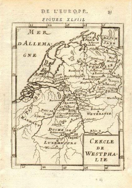 Associate Product Cercle de Westphalie' Cologne Dusseldorf Luxembourg Dortmund MALLET 1683 map