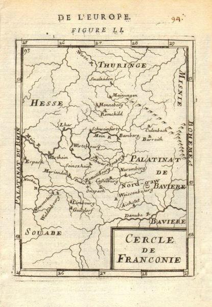 Associate Product FRANCONIA Franken Cercle de Franconie Bavaria Nuremburg Bamberg. MALLET 1683 map