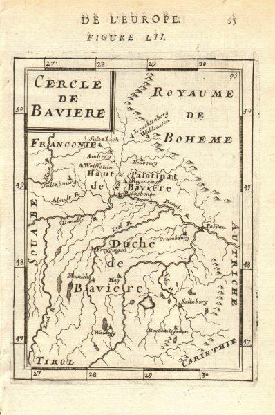 BAVARIA BAYERN. Herzogtum Baiern. Duché or 'Cercle de Bavière'. MALLET 1683 map