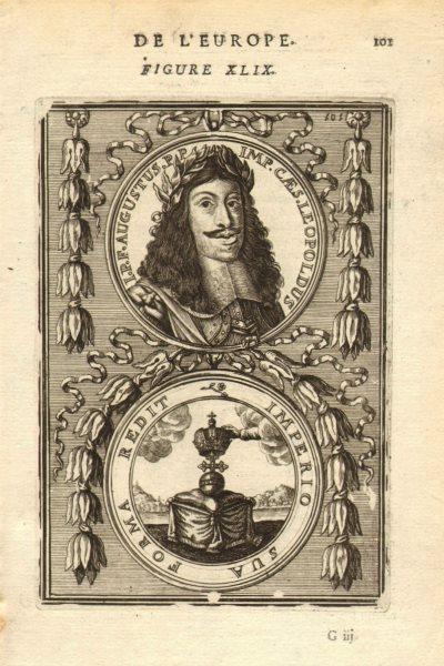 Associate Product LEOPOLD I OF AUSTRIA. 'I P F Augustus PP Imp Caes Leopoldus'. MALLET 1683