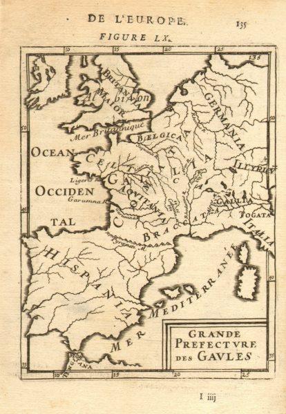 PRAETORIAN PREFECTURE OF GAUL. 'Grande Prefecture des Gaules'. MALLET 1683 map
