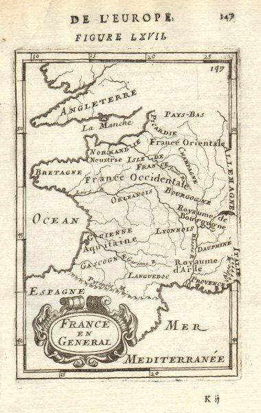 Associate Product FRANCE. Regions Provinces Gouvernements'France en General'. MALLET 1683 map