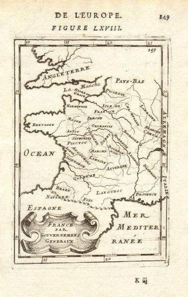 Associate Product FRANCE. Provinces. 'France par Gouvernmens Generaux'. MALLET 1683 old map