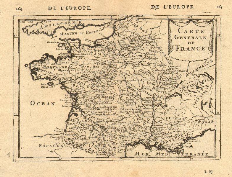 FRANCE. 'Carte Generale'. Towns, rivers & provinces. MALLET 1683 old map