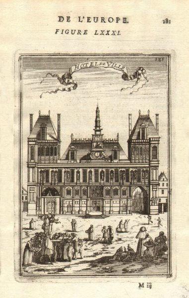Associate Product PARIS. Hotel de Ville. 'Hôtel de Ville'. Decorative. Market. MALLET 1683 print