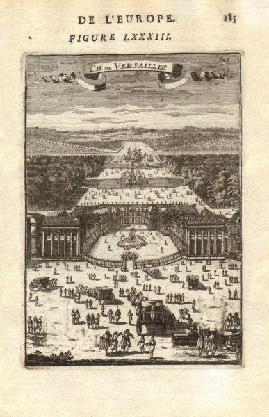 Associate Product CHÂTEAU DE VERSAILLES. Gardens carriages boats. Very decorative. MALLET 1683