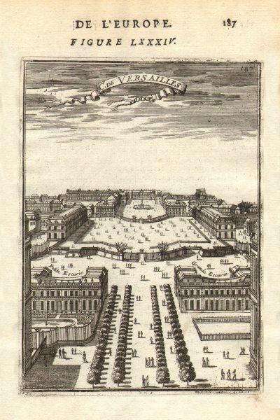 Associate Product CHÂTEAU VERSAILLES. Decorative view. Petite Grande Écuries Ecuries. MALLET 1683