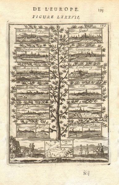 Associate Product NIJMEGEN 1678 TREATY Charleroi Gand Kortrijk Maastricht Binche Athe. MALLET 1683