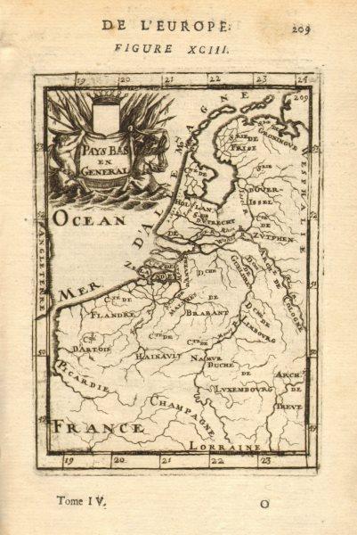 Associate Product BENELUX Belgium Netherlands Flanders. 'Pays Bas en General'. MALLET 1683 map