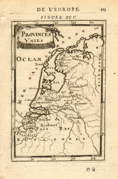 Associate Product NETHERLANDS. Verenigde Provinciën. United 'Provinces Unies'. MALLET 1683 map