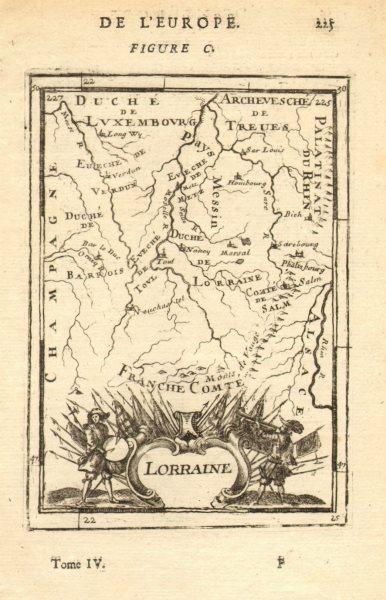 Associate Product DUCHY OF Duché de LORRAINE Moselle Metz Nancy Verdun Saarbrücken MALLET 1683 map