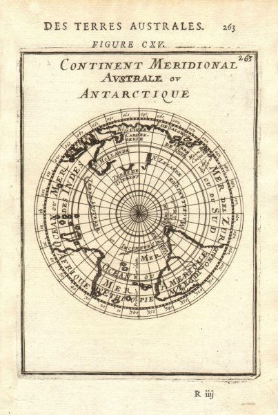 Associate Product SOUTHERN HEMISPHERE Australia/New Holland incomplete unknown. MALLET 1683 map