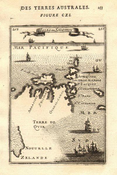 Associate Product SOLOMON ISLANDS. Malaita Guadalcanal New Zealand Terre de Quir. MALLET 1683 map