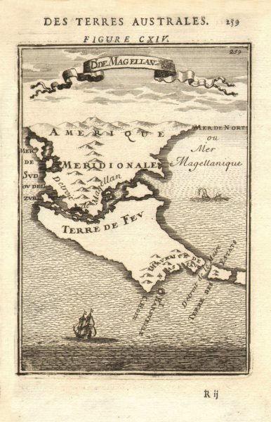 Associate Product TIERRA DEL FUEGO. Cape Horn. Magellan Strait. Chile Argentina. MALLET 1683 map