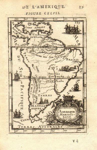 Associate Product SOUTH AMERICA. Amerique Meridionale Brazil Chile Argentina Peru. MALLET 1683 map