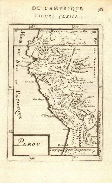 Associate Product PERU & ECUADOR. Rivers towns. Lima Quito Cusco Arica. 'Perou'. MALLET 1683 map