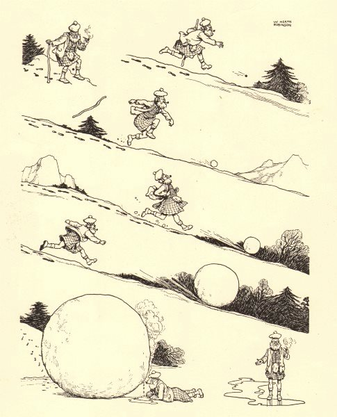 Associate Product HEATH ROBINSON. The hole in the sporran. A tale of accumulating interest 1935