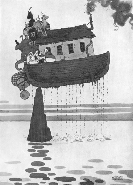 Associate Product HEATH ROBINSON. How Noah averted disaster at the subsidence of the Flood 1935