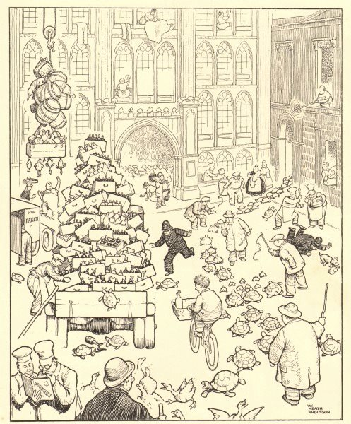 Associate Product HEATH ROBINSON. London Guildhall on the eve of the Lord Mayor's Banquet 1935