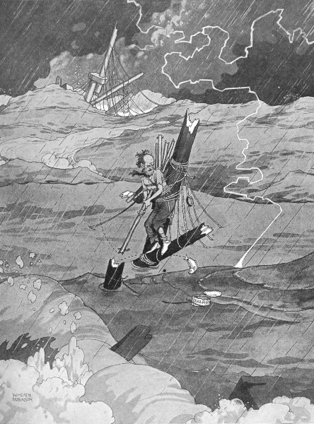 Associate Product HEATH ROBINSON. Incurable. Playing golf during a shipwreck. 1935 old print