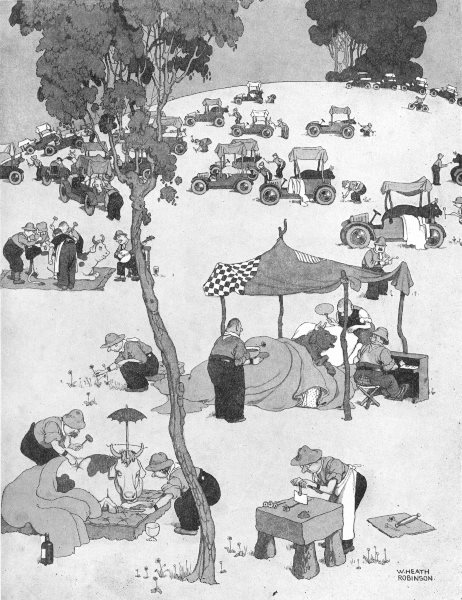 Associate Product HEATH ROBINSON. Treating cattle to make meat tender on an Argentine farm 1935