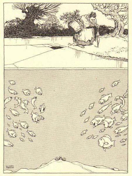Associate Product HEATH ROBINSON. Under the mistletoe. Any old excuse! Snails. Fish 1935 print