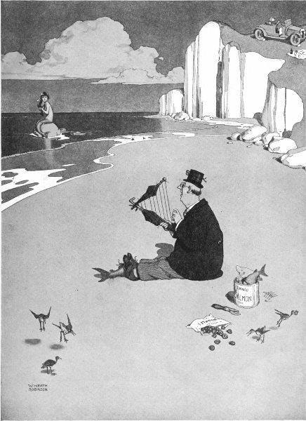 Associate Product HEATH ROBINSON. Man disguised as a merman luring a mermaid 1935 old print