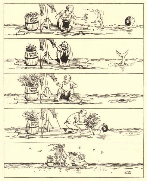 Associate Product HEATH ROBINSON. Spring & Spring Onions. An idyll of the sea.Mermaid Romance 1935
