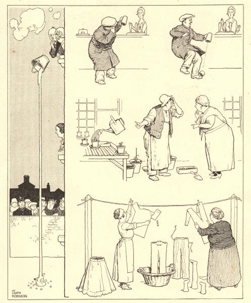 Associate Product HEATH ROBINSON. The kind of thing we must expect when it begins to freeze 1935