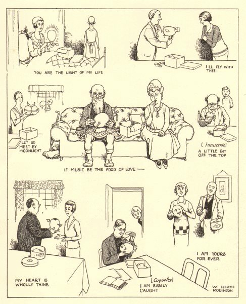 Associate Product HEATH ROBINSON. New Easter egg designs to facilitate amorous sentiments 1935
