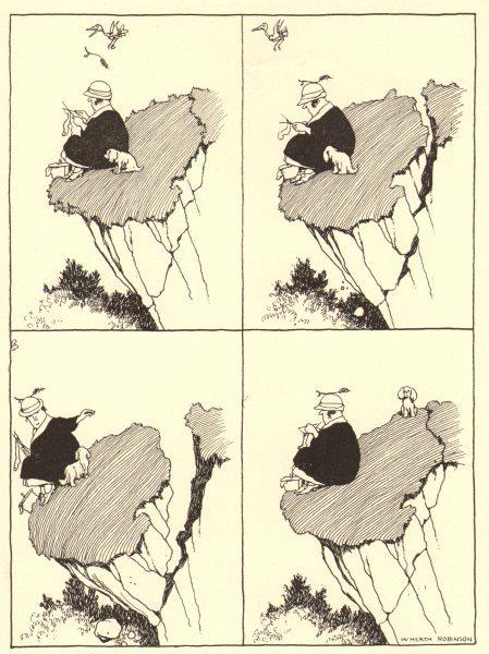 Associate Product HEATH ROBINSON. The last straw that didn't break the camel's back 1935 print