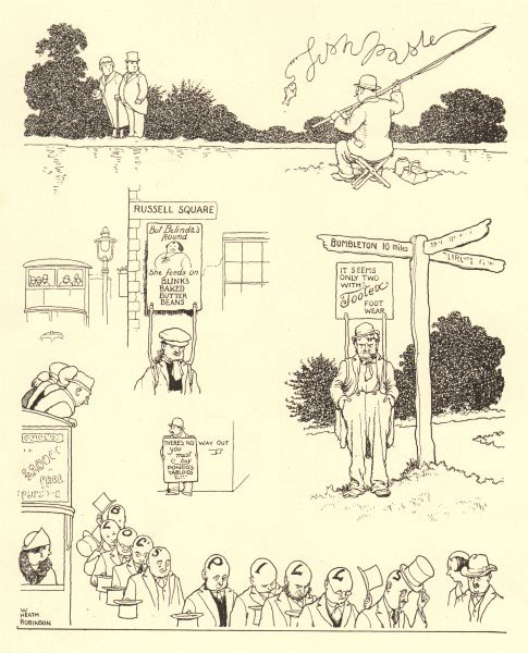 Associate Product HEATH ROBINSON. New and ingenious methods of advertising 1935 old print