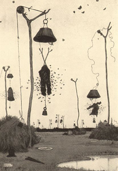 Associate Product HEATH ROBINSON. Trapping the clothes moth in the wilds of Idaho 1935 old print