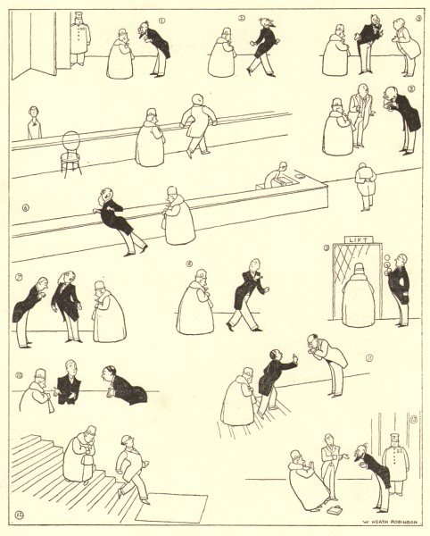 Associate Product HEATH ROBINSON. Step this way 1935 old vintage print picture