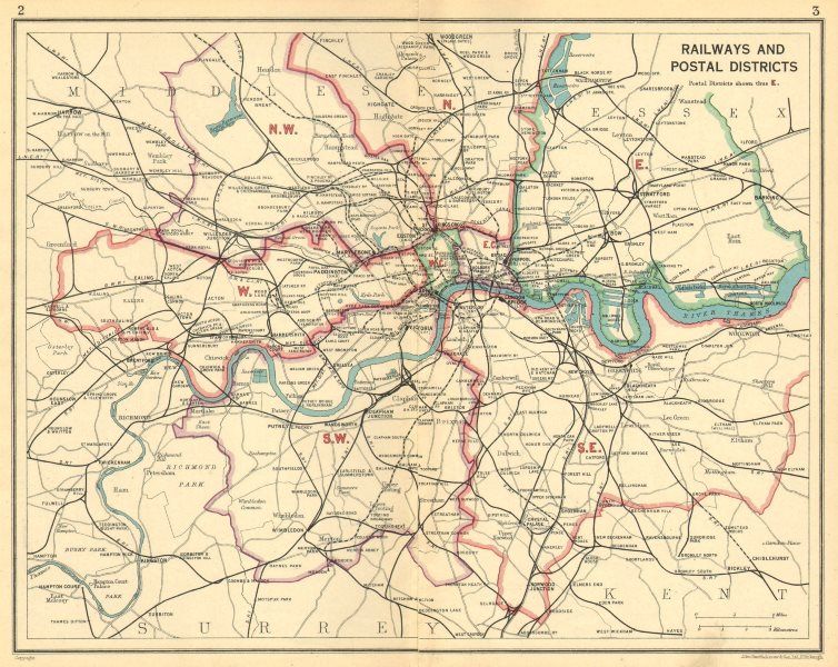 Associate Product LONDON. Railways Postal Districts.Underground tube lines.Tram routes 1930 map