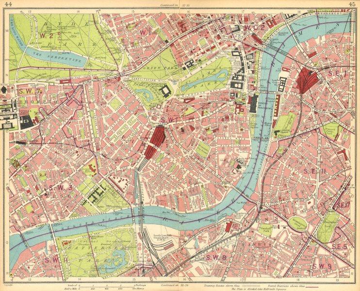 South Kensington London Map.London Brompton Pimlico Mayfair Westminster Chelsea Lambeth West