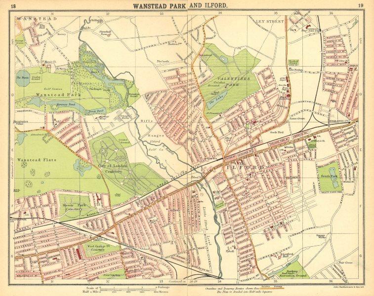 Associate Product LONDON NE. Wanstead Ilford Manor Park Seven Kings Wood Grange 1921 old map