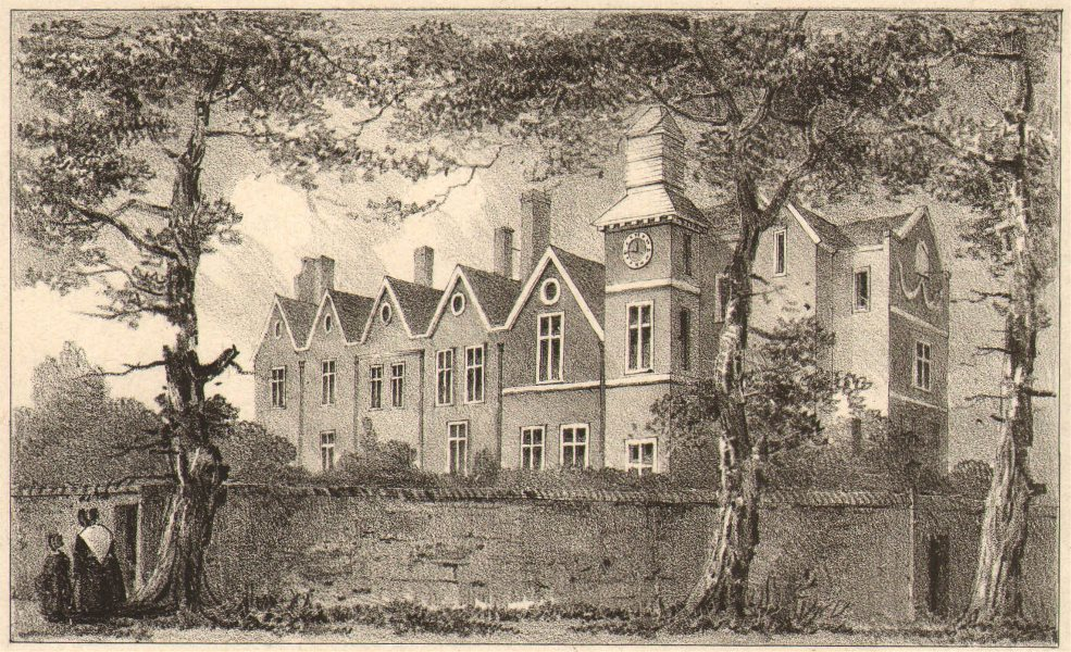 Associate Product MARYLEBONE. Old Manor House. Henry VIII's hunting lodge 1833 antique print